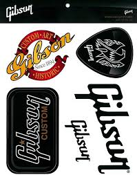 Amazon Com Gibson Sticker Pack Musical Instruments