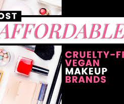 most affordable vegan makeup brands