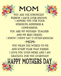 Happy Mothers Day: Gift For Mom Poem ...