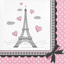 Party In Paris Beverage Napkins 2 Ply 216 Case Con Imagenes