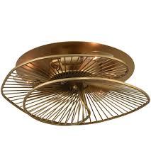 light 14 inch nordic brass flush mount
