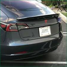 Tesla Model 3 Rear T Logo Accent Inlay High Cast Vinyl Decals Stickers Colors Ebay