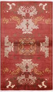 art deco oriental handmade area rug 3 x