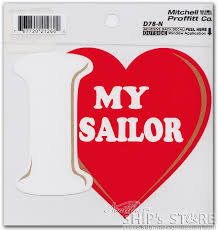 Decal Heart Love My Sailor Nautilus Ship S Store At The Submarine Force Library And Museum