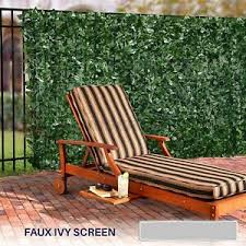 72 H Artificial Faux Ivy Leaf Privacy Fence Screen Decor Panels Outdoor Hedge Ebay