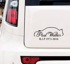 Matte Black Paul Walker Memorial Rip Sticker Decal Graphic Car Van Bumper Window Subaru Wish