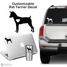 Personalized Rat Terrier Decal Top Pet Gifts