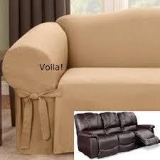 reclining sofa slipcover gold latte