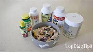 dog supplements for homemade dog food