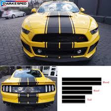 Racing Sport Styling Stripes Vinyl Decal For Ford Mustang Gt Car Hood Roof Tail Whole Sticker Auto Body Decor Decals Car Stickers Aliexpress