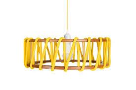 large yellow macaron pendant lamp by