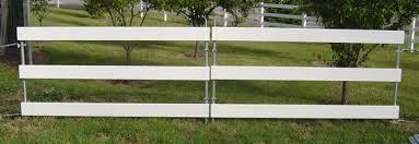 3 Three Rail White Vinyl Fence