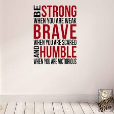 Be Brave Be Strong Wall Fitness Decal Quote For Gym Kettlebell Crossfit Yoga Boxing Mma Ufc Wall Sticker Wall Art Wall Sticker Vinyl Wall Decals Wall Decals