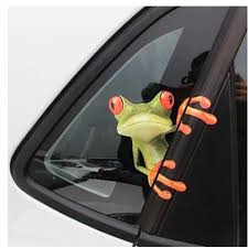 Funny 3d Cartoon Colorful Frogs Car Stickers Cute Window Auto Decal Vinyl Cover Body Scratched Car Decor Exterior Accessories Car Stickers Aliexpress