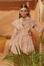 shirt dress in dirty pink shade
