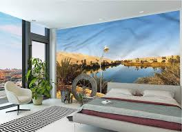 Amazon Com Lcggdb Desert Wall Mural Decal Idyllic Oasis Awbari Removable Large Wall Mural For Livingroom Bedroom Nursery School Family Wall Decals 96x66 Inch Home Kitchen