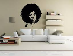 Wall Vinyl Sticker Room Decal Mural Design Hair Style Salon Afro Woman Bo1467 Ebay