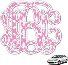 Amazon Com Rnk Shops Fleur De Lis Monogram Car Decal Personalized Automotive