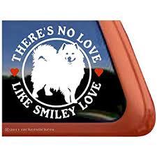 Amazon Com Samoyed Love Vinyl Window Dog Decal Sticker Automotive