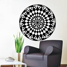 Shop Mandala Rhombus Om Yoga Pattern Oum Sign Interior Vinyl Sticker Art Mural Kids Room Decor Sticker Decal Size 48x48 Color Black Overstock 14787567