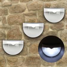 6 led solar powered outdoor wall light