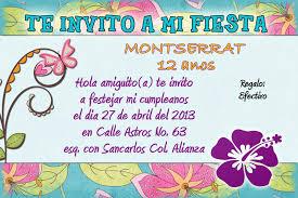 Invitaciones Para Ninas De 12 De Cumpleanos Imagui