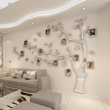 Wall Stickers Tree Photo Frame Sticker Diy Mirror Wall Decal Home Decoration Living Room Bedroom Poster Tv Background Wall Decor T200111 Wall Stickers Home Decor Wall Stickers Kids From Xue009 12 19 Dhgate Com