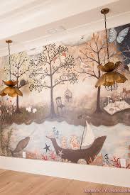 Our Art Craft Homework Room Mural Reveal Addison S Wonderland Mural Wallpaper Mural Kid Room Decor