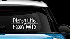 Disney Discovery Disney Life Happy Wife Car Decal