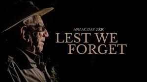 ANZAC IN THE CLARENCE: We stand apart ...