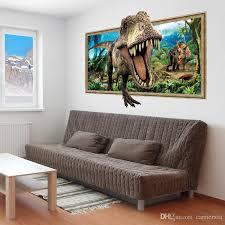 Dinosaur Roaring 3d Wall Sticker Pvc Animal Wall Art Mural For Living Room Boys Room Decoration Stickers Wall Decor Stickers Wall Decoration From Carrierxia 4 31 Dhgate Com