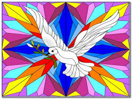 dove stained glass window template