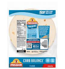 carb balance fajita flour tortillas