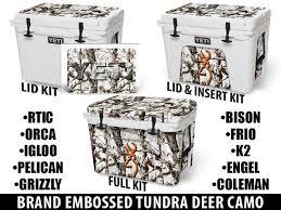 Brand Embossed Tundra Camo Deer Usatuff Cooler Wrap Custom Kits Usa Tuff