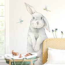 Big Bunny Wall Decal Bunny Wall Art Stickers Project Nursery