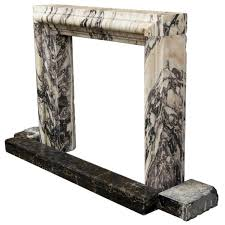 architectural art deco marble fireplace