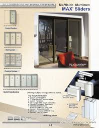 glass and aluminum sliding door systems