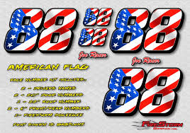 American Flag Race Car Numbers Decals And Racing Graphics