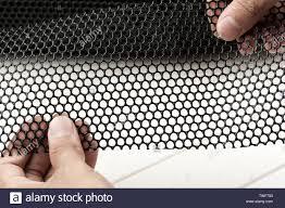 Black Platic Net Black Extruded Plastic Mesh Black Plastic Fence Net Bird Netting Stock Photo Alamy
