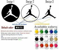 Vinyl Decal Sticker Michael Jordan Mj Nba Jumpman Car Window Air Basketball Logo 2 20 Picclick