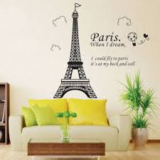 Black Paris Eiffel Tower Wall Sticker Decal Art Mural Home Decor Diy Removable For Sale Online Ebay