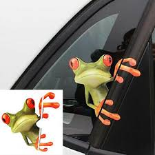 Two 3d Peep Frog Funny Car Stickers Truck Window Vinyl Decal Graphics Auto Real 2 99 Picclick