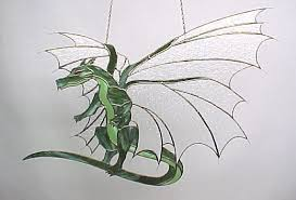 dragon stained glass pattern pattern