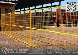 6ftx9 5ft 1 Square Pipe Temporary Construction Fencing Panels With Highly Visible Yellow Color Powder Coat