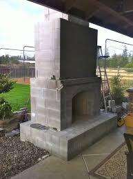 prefab outdoor fireplace outdoor