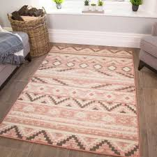 Pink Trellis Kids Bedroom Rug Milan Junior Kukoonrugs