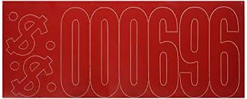 Duro Permanent Adhesive Vinyl Letters 6 Inch Red Rn Studio Com