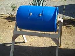 home made compost tumbler you