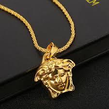 fashion medusa head necklace pendant