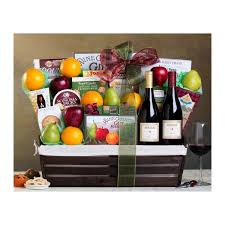 fresh fruit and wine gift baskets